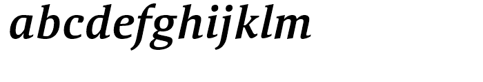 Aelita Medium Italic Font LOWERCASE