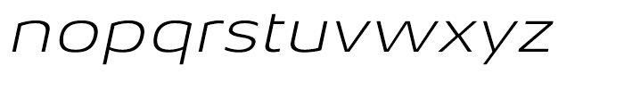 Aeonis Extended Light Italic Font LOWERCASE