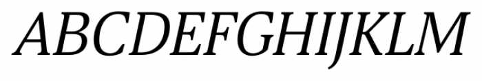 Aelita Book Italic Font UPPERCASE
