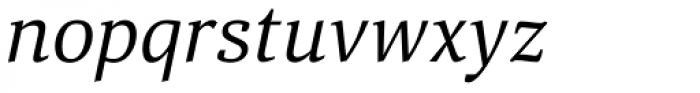 Aelita Book Italic Font LOWERCASE