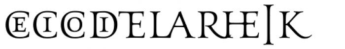 Aeneas Regular Alternate Font UPPERCASE