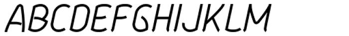 Aeolus Pro Light Italic Font UPPERCASE
