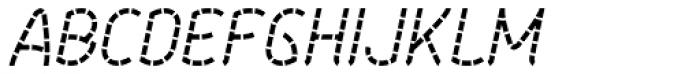 Aeolus Pro Staccato Italic Font UPPERCASE