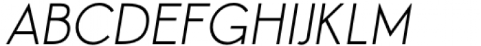 Aeonian Light Italic Font UPPERCASE