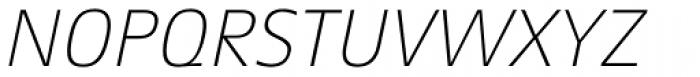 Aeonis Pro Thin Italic Font UPPERCASE