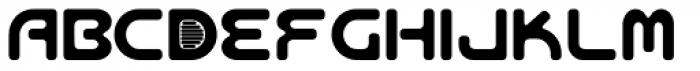 Aeos Single Font UPPERCASE
