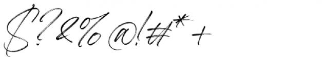 Aerobrush Regular Font OTHER CHARS
