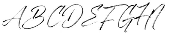 Aerobrush Regular Font UPPERCASE