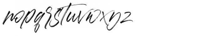 Aerobrush Regular Font LOWERCASE