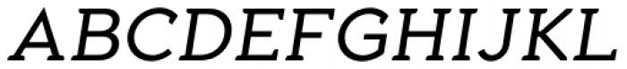 Aeron Book Oblique Font UPPERCASE