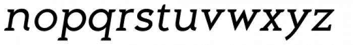 Aeron Book Oblique Font LOWERCASE