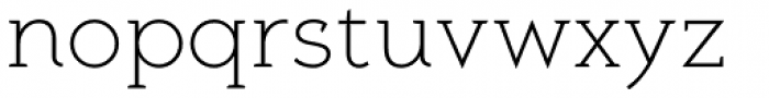 Aeron Light Font LOWERCASE