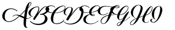 Aether Rain Black Font UPPERCASE