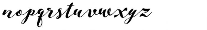 Aether Rain Black Font LOWERCASE