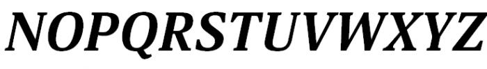 Aelita Bold Italic Font UPPERCASE