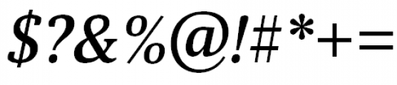 Aelita Medium Italic Font OTHER CHARS