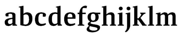 Aelita Medium Font LOWERCASE