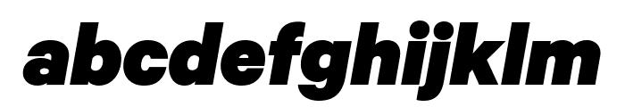 Calibre BlackItalic Font LOWERCASE