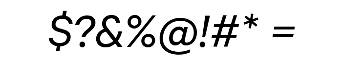 Calibre Italic Font OTHER CHARS