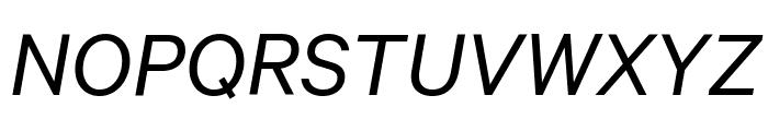 Calibre Italic Font UPPERCASE
