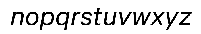 Calibre Italic Font LOWERCASE