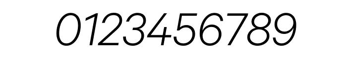 Calibre LightItalic Font OTHER CHARS
