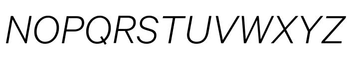 Calibre LightItalic Font UPPERCASE