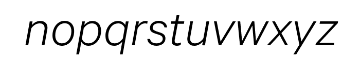 Calibre LightItalic Font LOWERCASE
