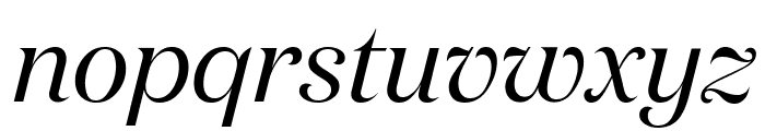 DomaineDisplay RegularItalic Font LOWERCASE