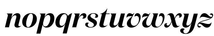 DomaineDisplay SemiboldItalic Font LOWERCASE