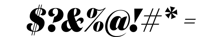 DomaineDisplayCondensed BlackItalic Font OTHER CHARS