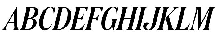 DomaineDisplayCondensed MediumItalic Font UPPERCASE