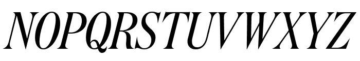 DomaineDisplayCondensed RegularItalic Font UPPERCASE