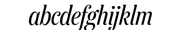 DomaineDisplayCondensed RegularItalic Font LOWERCASE