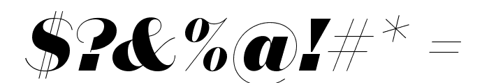 DomaineSansDisplay BlackItalic Font OTHER CHARS