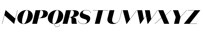 DomaineSansDisplay BlackItalic Font UPPERCASE