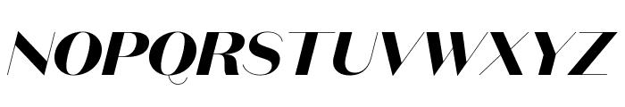 DomaineSansDisplay BoldItalic Font UPPERCASE