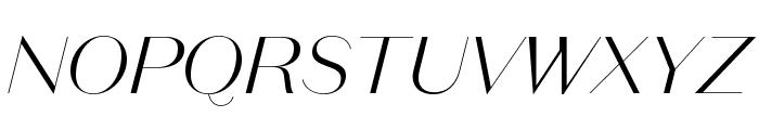 DomaineSansDisplay LightItalic Font UPPERCASE