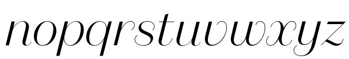 DomaineSansDisplay LightItalic Font LOWERCASE