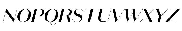 DomaineSansDisplay MediumItalic Font UPPERCASE