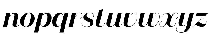 DomaineSansDisplay SemiboldItalic Font LOWERCASE