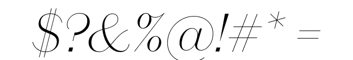 DomaineSansDisplay ThinItalic Font OTHER CHARS