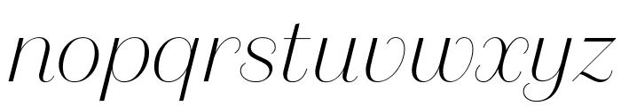 DomaineSansDisplay ThinItalic Font LOWERCASE