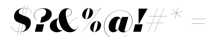 DomaineSansFine BlackItalic Font OTHER CHARS