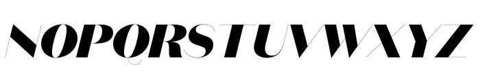 DomaineSansFine BlackItalic Font UPPERCASE