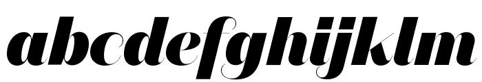 DomaineSansFine BlackItalic Font LOWERCASE