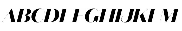 DomaineSansFine BoldItalic Font UPPERCASE