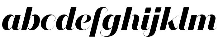 DomaineSansFine BoldItalic Font LOWERCASE