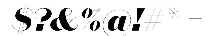 DomaineSansFine ExtraboldItalic Font OTHER CHARS