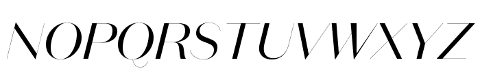 DomaineSansFine RegularItalic Font UPPERCASE